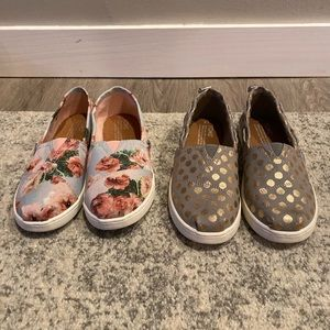 2 Pair Brand New Toms shoes